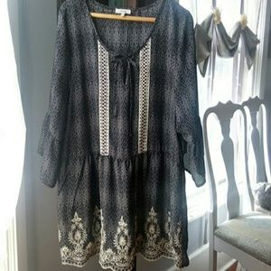 Maurices black blouse
